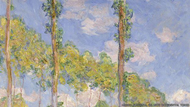 Álamos en el sol, de Claude Monet