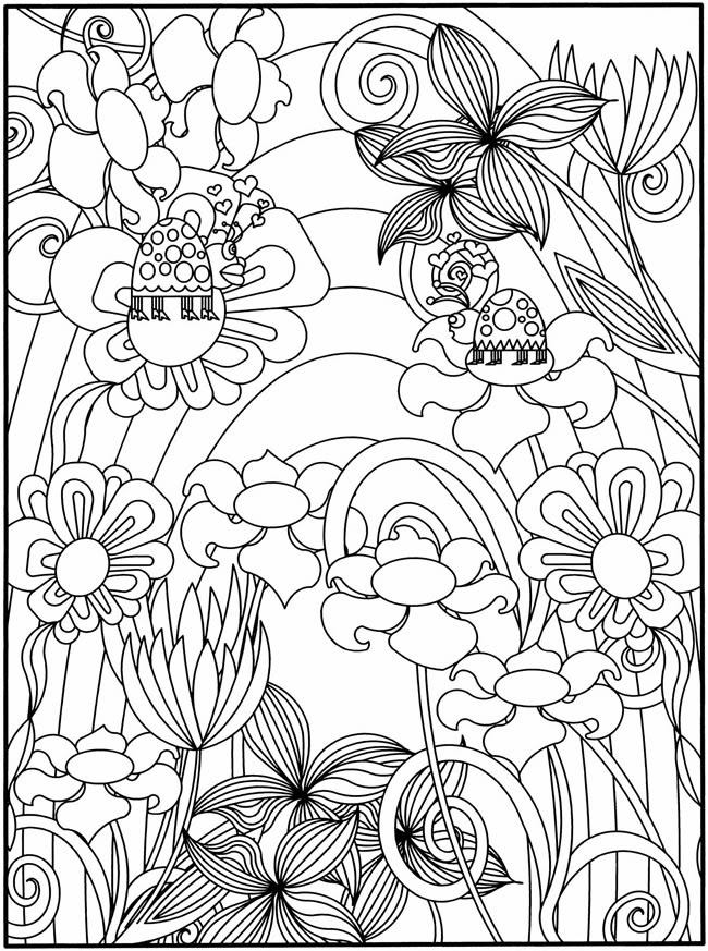 Flower Garden Coloring Pages To Download And Print For Free Coloring Pages