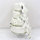 Wedding Cake Topper   White Orchid Silk Flower Wedding