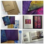 3 handbound portfolios for quilt artists
