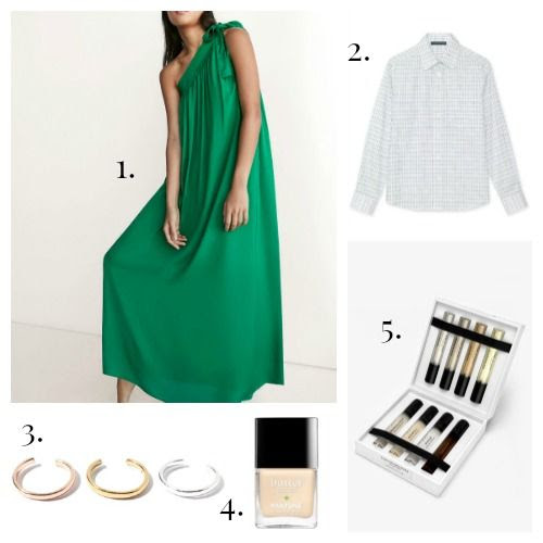 Massimo Dutti Dress - ALEXACHUNG Shirt - Jenny Bird Ear Cuff - Butter London Nail Lacquer - Rag and Bone Fragrance