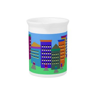 City Art Drink Pitcher