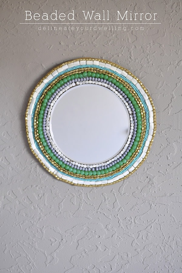 Beaded Wall Mirror, Delineateyourdwelling.com