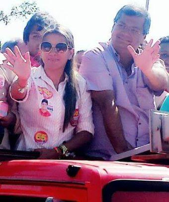 Vereadora Alexandra Reis e o governador Flávio Dino