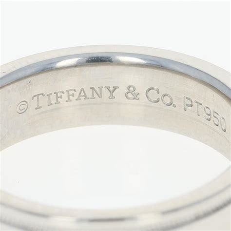 Tiffany & Co.   950 Platinum 6mm Flat Double Milgrain Men