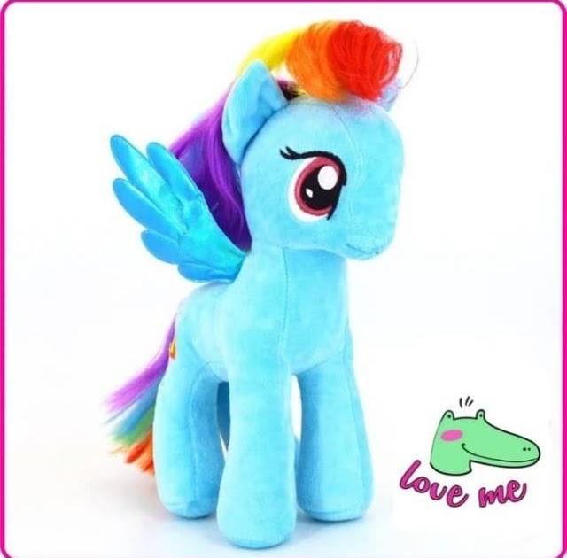 boneka unicorn warna biru  boneka baru