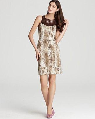 Rachel Roy Snake Print Dress