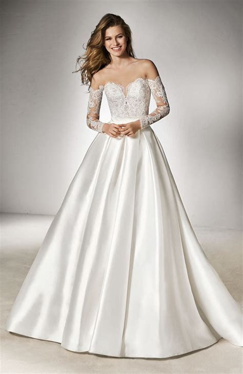 Pronovias Mimi optical white skirt in size 10   Sale price