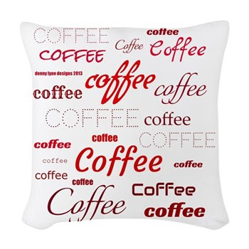 Magic Coffee Fonts Woven Throw Pillow