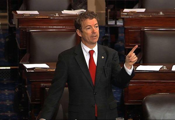 Sen. Rand Paul, R-Ky speaks on the floor