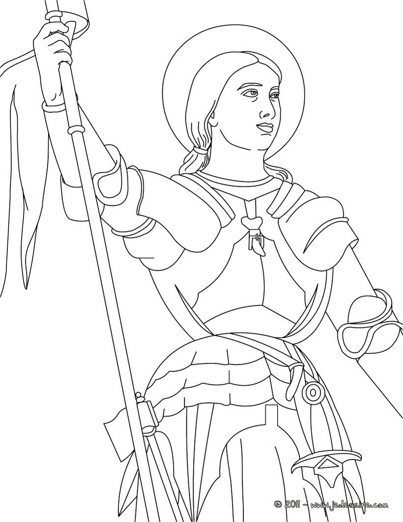 Coloriage JEANNE D ARC Coloriage du General Bonaparte