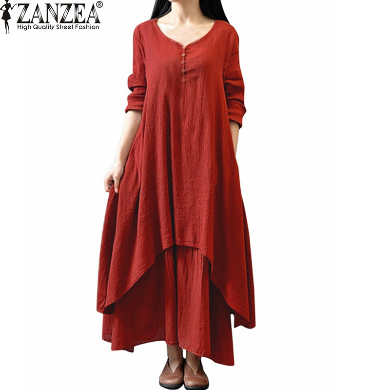 great blog robe  robe lin manche longue