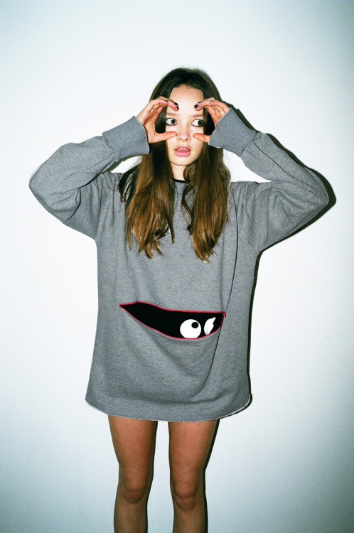 Get an eyeful of our latest sweatshirt. It's super warm too.