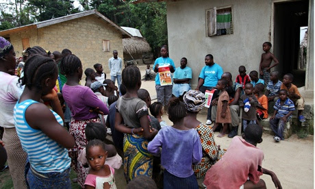 Villagers in Liberia are made aware of the dos and don'ts when faced with an Ebola outbreak