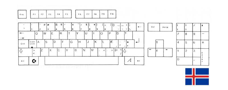 Teclado Islandés Amiga 500