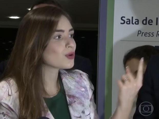Patrícia acusa assessor de parlamentar de tê-la sequestrado em São Paulo. Para delegado, ela mentiu sobre acusação (Foto: Reprodução / TV Globo)
