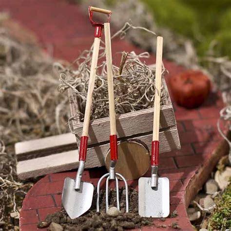 Miniature Galvanized Tools   Fairy Garden Supplies