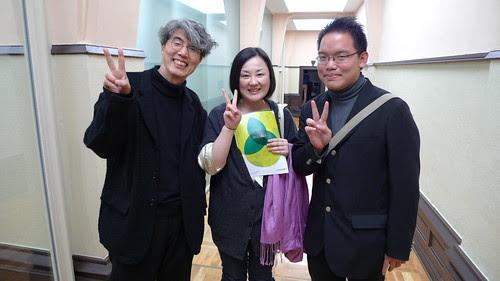 With Ando-sensei and Junko the translator