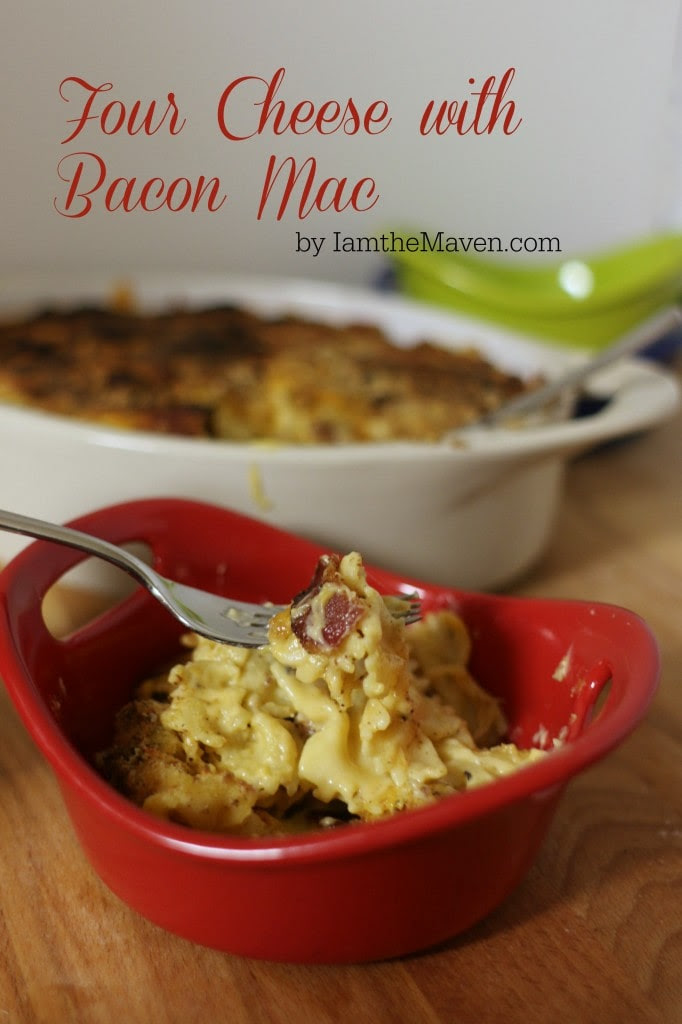 This delicious Four Cheese with Bacon Mac is easy to make with your favorite #LucerneDairy cheeses from Safeway! It' so rich and delicious your guest will be begging you for the recipe! Sponsored.