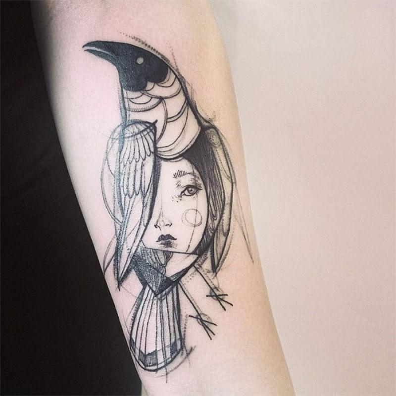 As tatuagens que parecem esboços de desenhos a lápis, por Nomi Chi 11