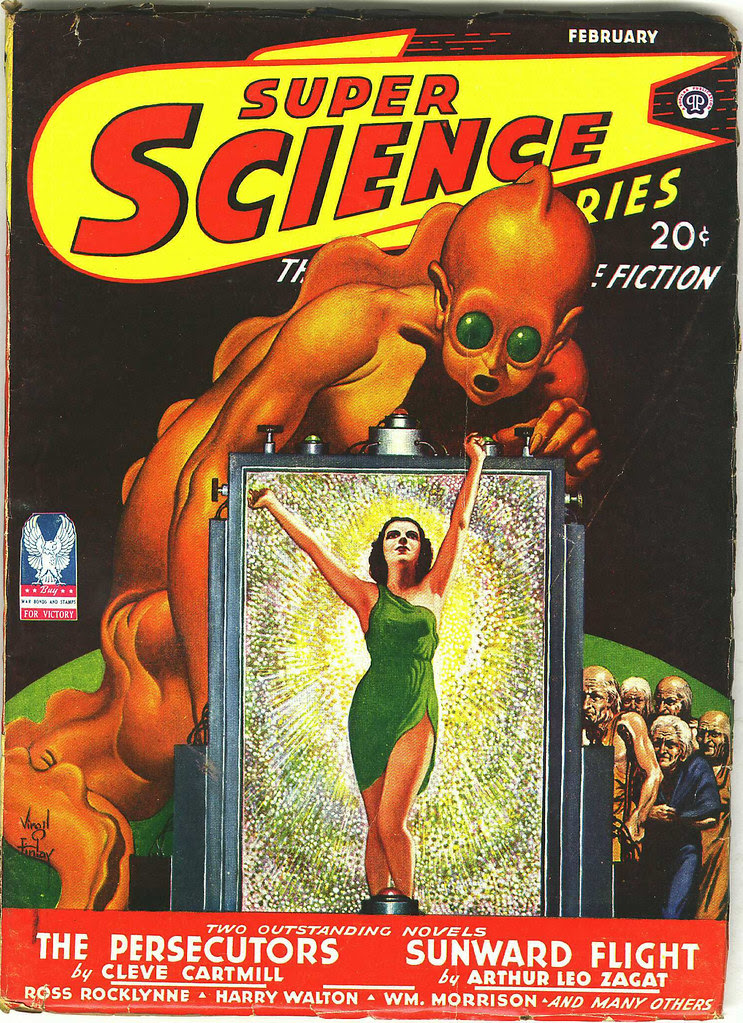 Virgil Finlay - Super Science Stories, Cover