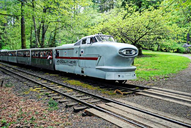 Train from the Zoo - Washington Park - Portland, Oregon
