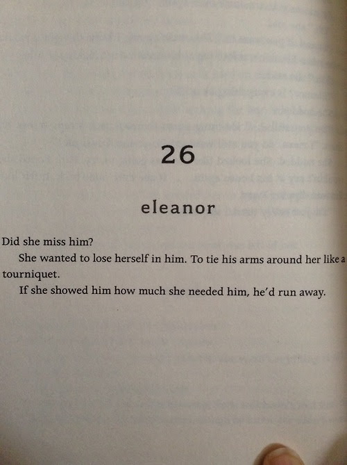 Love Life Quotes Run Away Book Scared Eleanor Chapter Feelings Miss