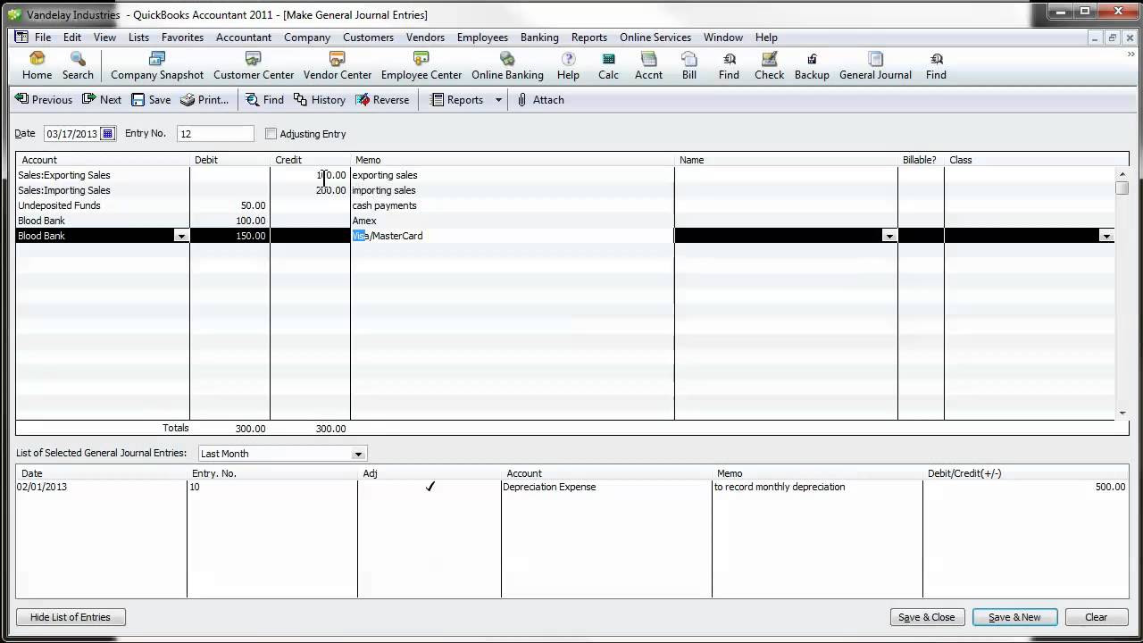 QuickBooks Video Tip: Daily Sales Journal Entry - YouTube