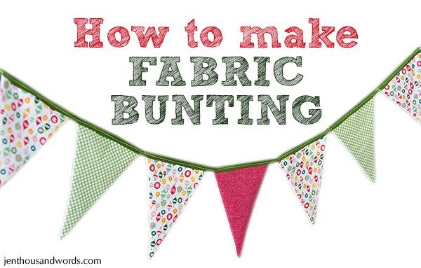 A Thousand Words How To Make Fabric Bunting