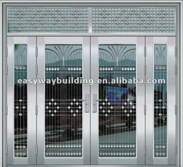 Stainless Steel Doors Modern Home House Design Ideas