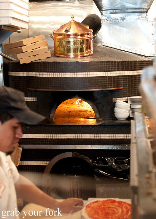 woodfire pizza oven at motorino pizza east village italian new york pizza ny usa