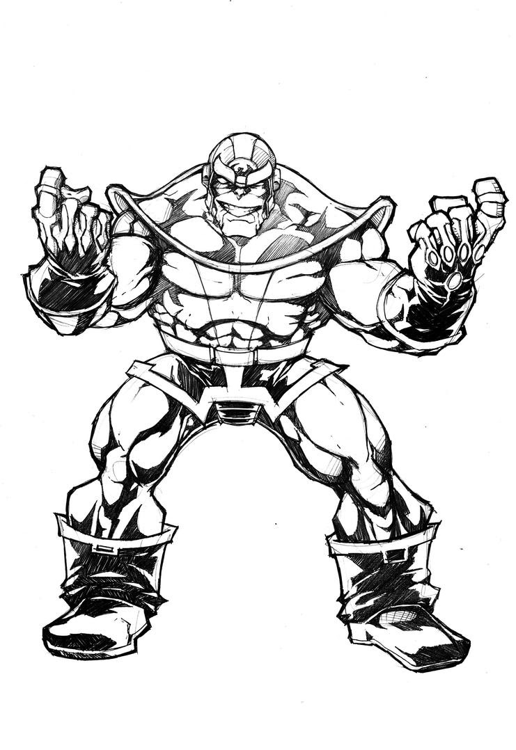 Marvel Thanos Coloring Pages Sketch Coloring Page