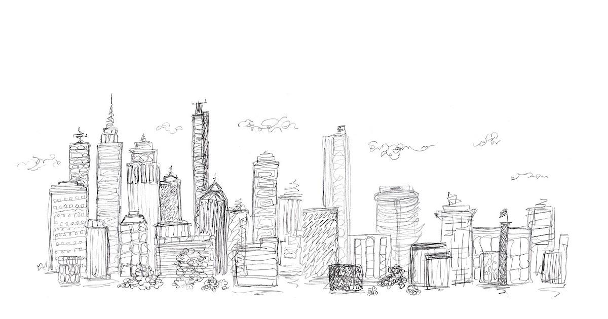 Line Art Xl 2010 : Broken box designs cityscape sketch