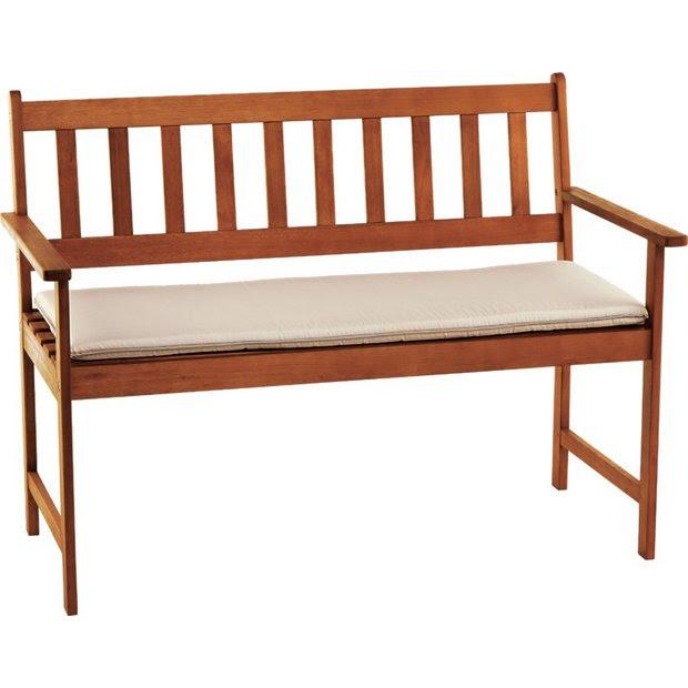 Buy Cream Cushion for 4ft Garden Bench at Argos.co.uk ...