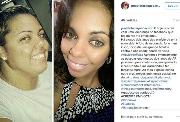 Postagem em rede social da motorista brasiliense Janaíne Barcelos  (Foto: Janaíne Barcelos/Arquivo Pessoal)