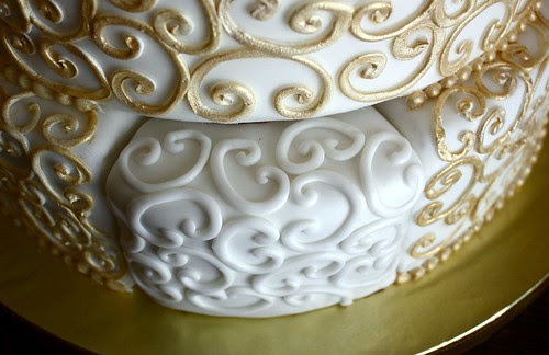Mike and Janice's Wedding Cake - real slice