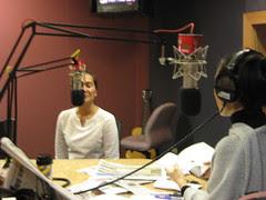 on live radio
