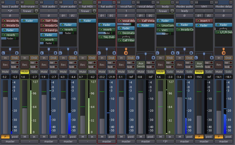 Ardour3 Mixer