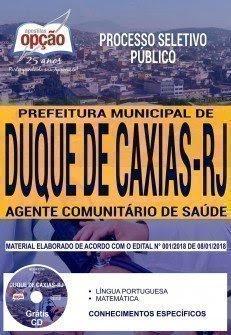 Apostila Processo Seletivo Público Prefeitura de Duque de Caxias 2018   AGENTE COMUNITÁRIO DE SAÚDE