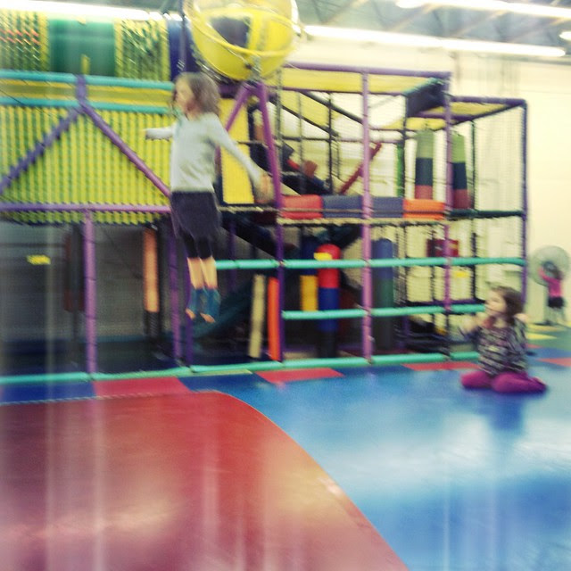Grace in mid-air