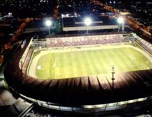 Foto aérea Estádio Rei Pelé (Foto: Reprodução/TV Gazeta)