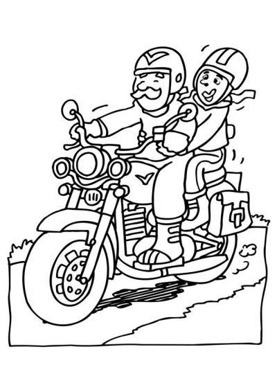 Dibujo De Moto De Carretera Dibujo Para Colorear De Moto De