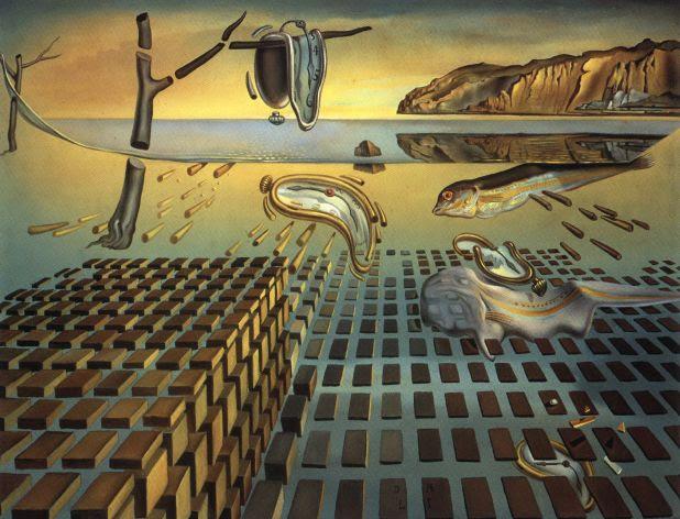 """Salvador Dali, """"A Desintegração da Persistência da Memória"""" (1952-1954)"""
