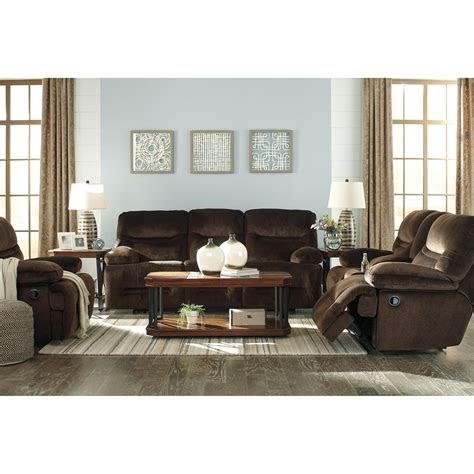 contemporary double reclining loveseat  console