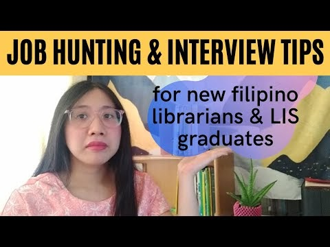 Video: Job hunting and interview tips for Filipino librarians and LIS graduates