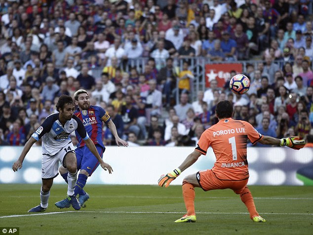 Lionel Messi was named among the substitutes but came on to score in the second half