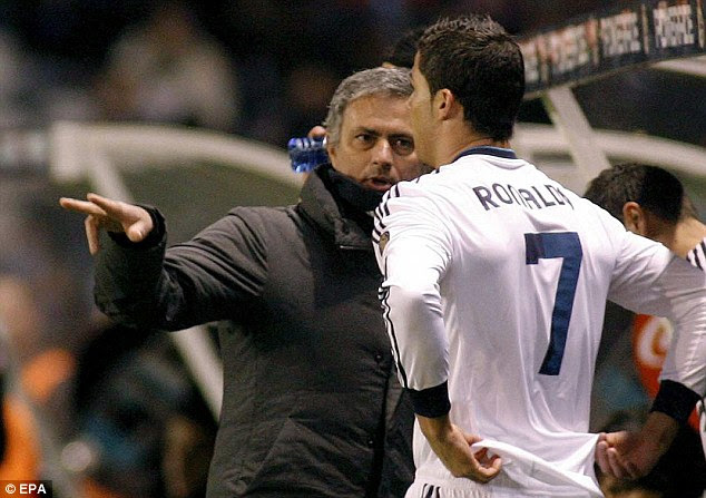 Rest? Jose Mourinho was forced to bring Cristiano Ronaldo on as Real Madrid were outplayed in the first half