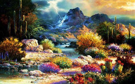 beautiful spring time valley desktop pc  mac