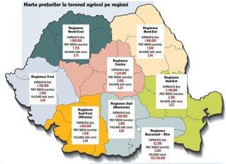 Terenul agricol din România valorează 25 de miliarde de euro, o cincime din PIB