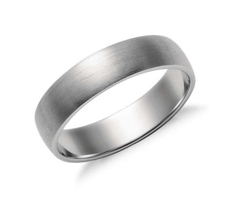 Matte Classic Wedding Ring in Platinum (5mm)   Blue Nile